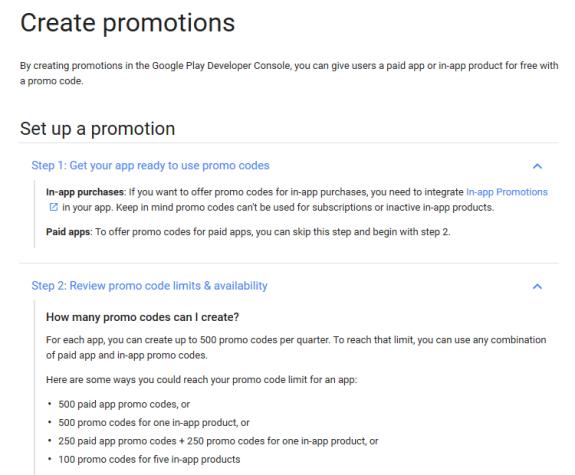 Google Play Promo Codes