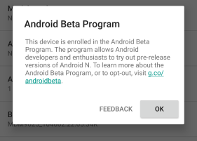 Android N Beta - Home
