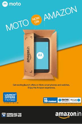 Moto on Amazon India