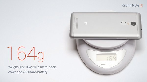 Redmi Note 3 weight