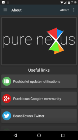 Pure Nexus 6 Settings