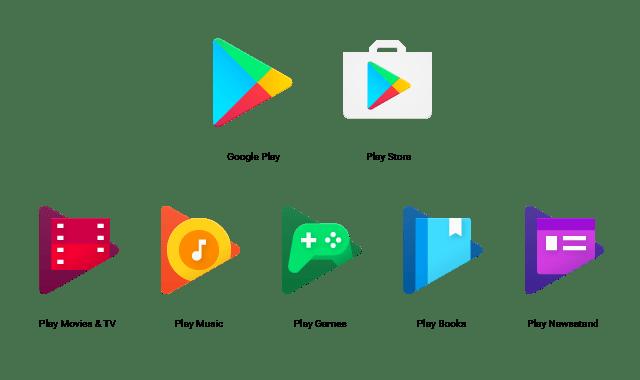 Google Play New Logos screen