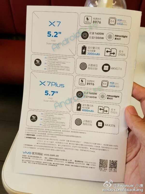 Vivo X7 specifications