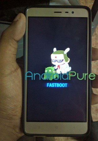 Redmi Note 3 Fastboot Mode
