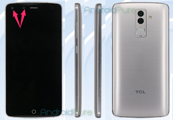 TCL 598 Dual Front and Rear Cameras