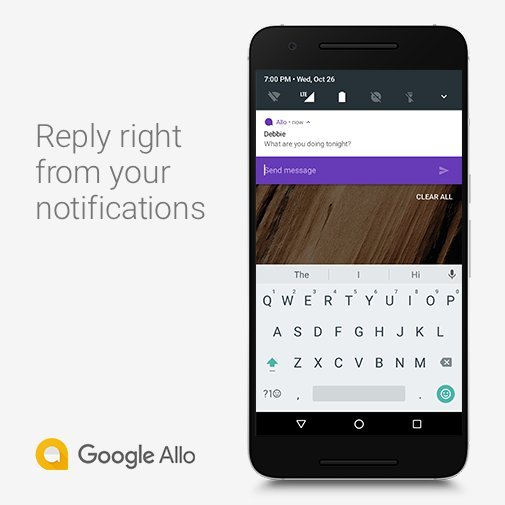 Allo 2.0 Quick Reply - Allo 2.0 update adds support for split-screen, quick reply, monochrome chats, voice recognition and more