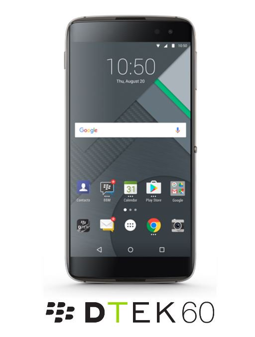 BlackBerry DTEK60 - BlackBerry DTEK60 with Snapdragon 820, 4 GB RAM and 21 MP camera launched