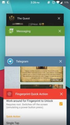 Fingerprint Quick Action 4 - How to enable fingerprint scanner gestures on any Android phone
