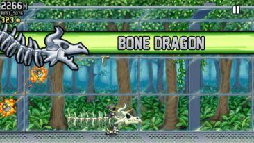 Jetpack Joyride Bone Dragon - Jetpack Joyride Halloween update brings Bone Dragon, Grim Reaper costume, Jack-o'-lantern jetpack and more