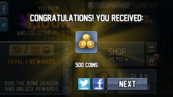 Jetpack Joyride Halloween Update rewards 3 - Jetpack Joyride Halloween update brings Bone Dragon, Grim Reaper costume, Jack-o'-lantern jetpack and more