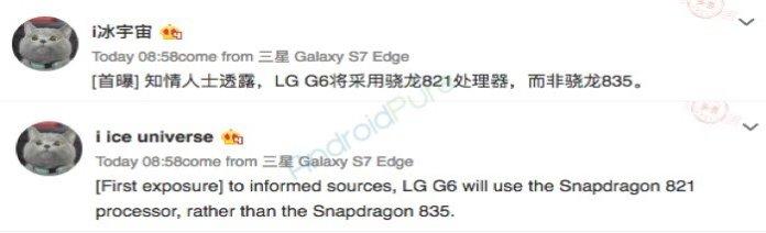 Lg g6 sd821 processor