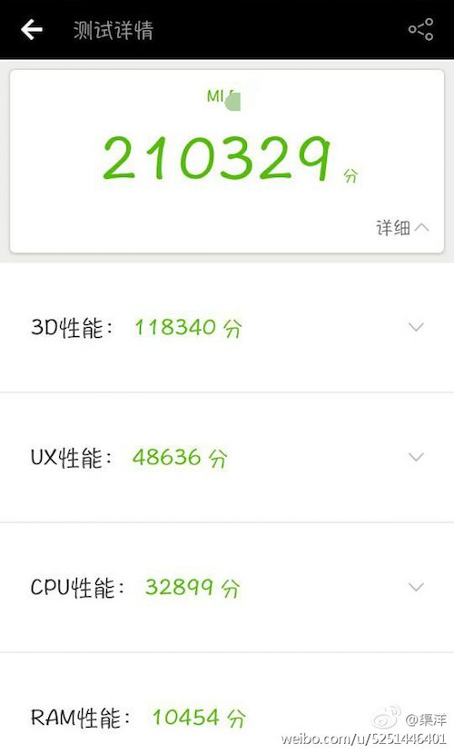 Xiaomi Mi 6 Antutu - Alleged Xiaomi Mi 6 Antutu Benchmark leaks, scores 210329