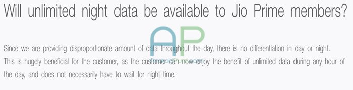 Jio Prime Night Unlimited - Jio Prime Fineprints: Max 1 device for Hotspot, NO Night unlimited, Minimum 149 Recharge