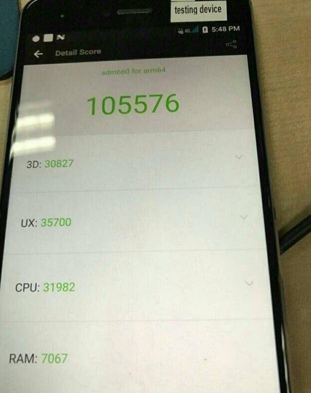 Snapdragon 660 Antutu Qualcomm Snapdragon 660 leaks with Antutu score of 105576 1