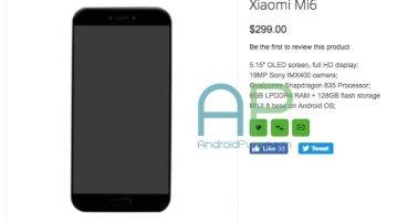 Xiaomi Mi 6 Oppomart - Xiaomi Mi 6 with Snapdragon 835, 6 GB RAM listed on Oppomart for $299