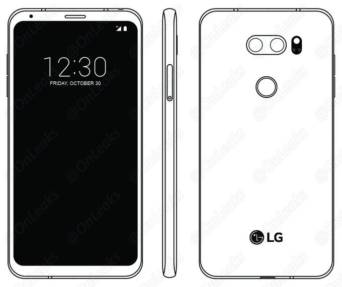 LG V30 Press render LG V30 Press render showing front display leaks ahead of official launch 4
