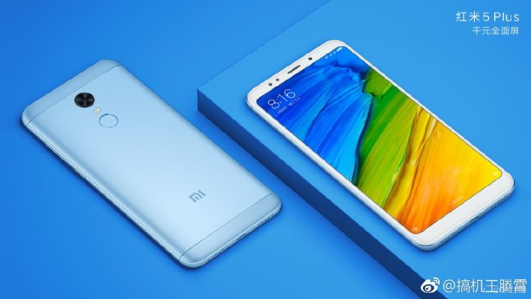 Xiaomi Redmi 5 Plus d - Xiaomi Redmi 5 / Redmi 5 Plus official press renders surface ahead of official launch