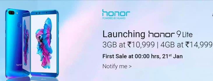 Honor 9 Lite flipkart