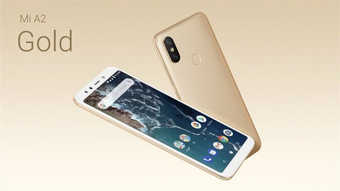 Mi A2 Gold colour