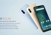 Mi A2 Lite features