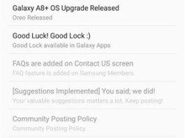 Samsung Android Oreo update roadmap