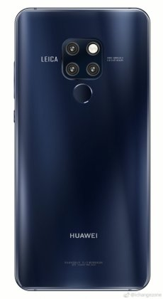 Huawei Mate 20 a Huawei Mate 20 Renders with Blue and Black Color options surface 1