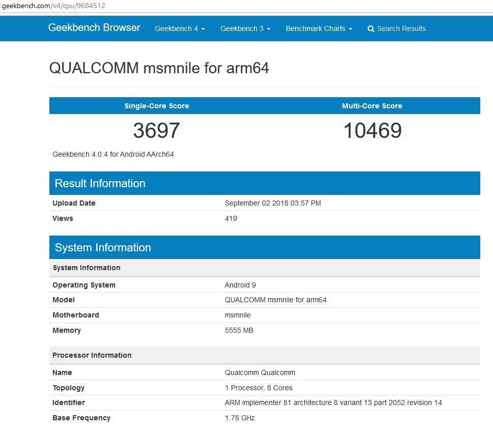 Qualcomm Snapdragon 855 Benchmark