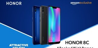 Honor 8c india colours