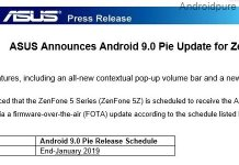 Zenfone 5Z Android Pie Update release date official