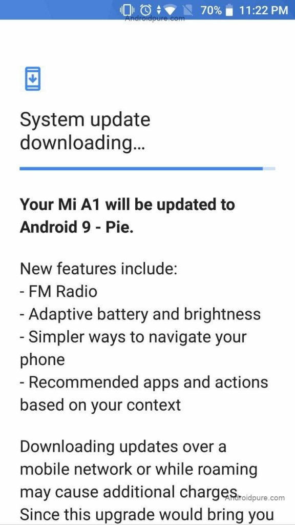 Xiaomi Mi A1 Android Pie Update Beta