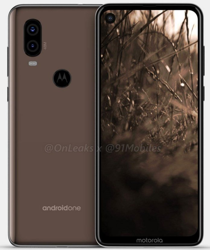 Moto P40 Android One leaked