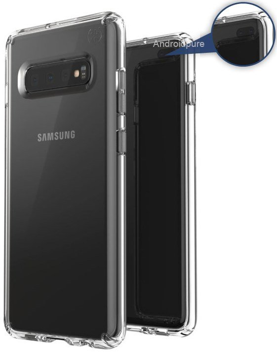 Galaxy S10 leaked case render