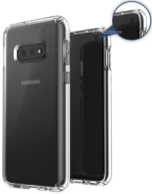 Galaxy s10 leaked case render in-display camera
