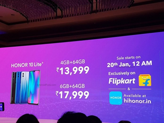 Honor 10 Lite price in India
