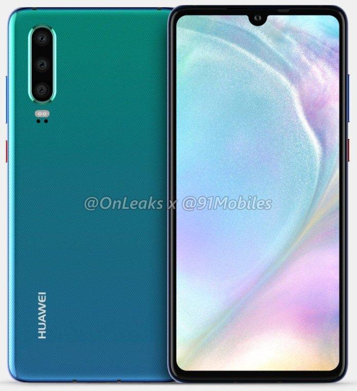Huawei P30 leaked unofficial renders