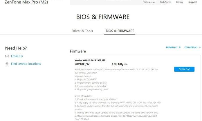 ASUS Zenfone Max Pro M2 March Update