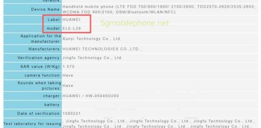 Huawei P30 tech specs