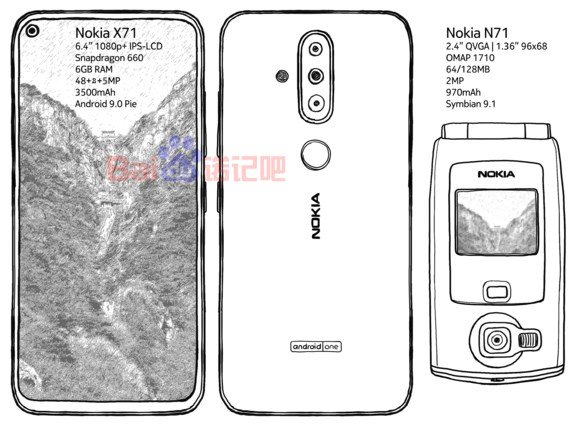 Nokia X71 leaked sketch