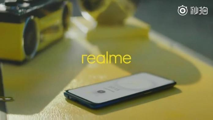 Realme phone with pop-up selfie camera