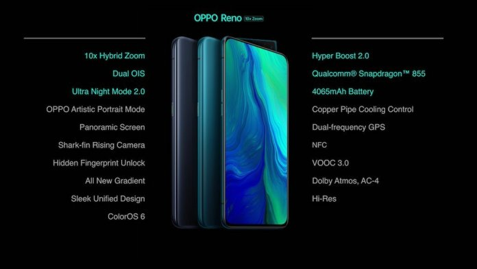 Oppo Reno 10x Zoom Specs Oppo Reno 10x Zoom Edition and Oppo Reno launched in India, starting at Rs. 32990 2