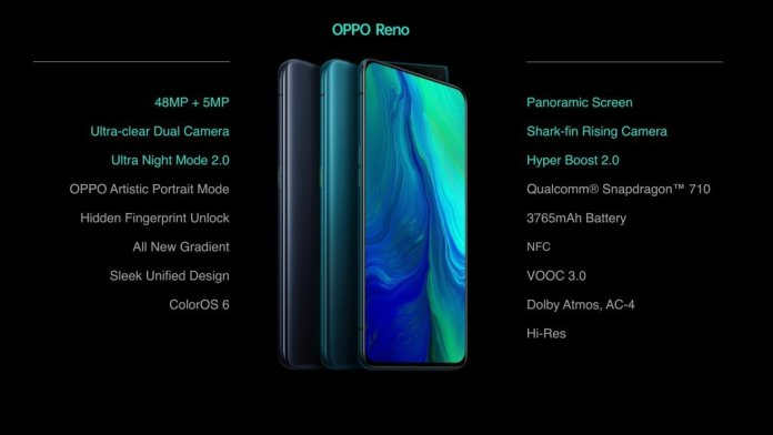 Oppo Reno Specs e1559063614768 Oppo Reno 10x Zoom Edition and Oppo Reno launched in India, starting at Rs. 32990 1