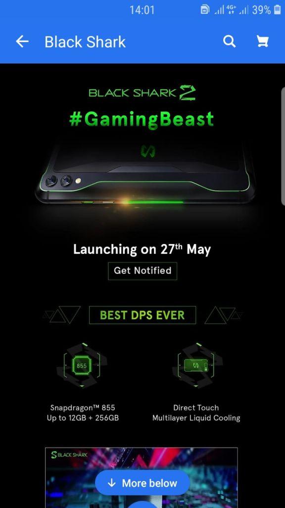 Xiaomi Black Shark 2 India launch date