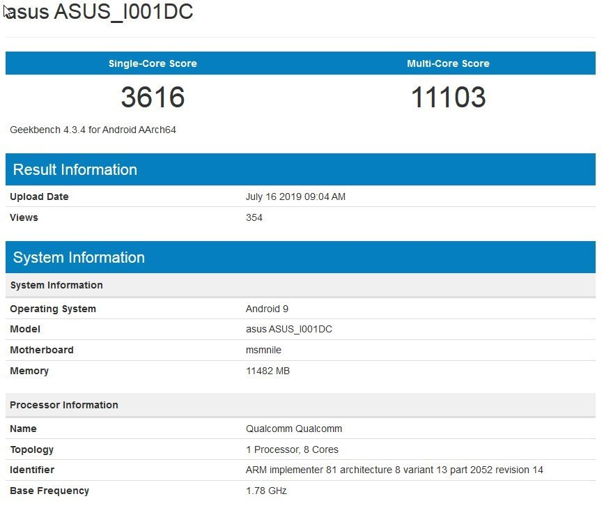 ASUS ROG Phone 2 benchmark leaked
