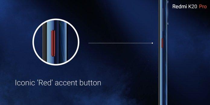 Redmi K20 Pro red accent button