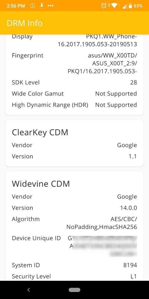 Zenfone Max Pro M1 Widevine Level Downgraded In August Update
