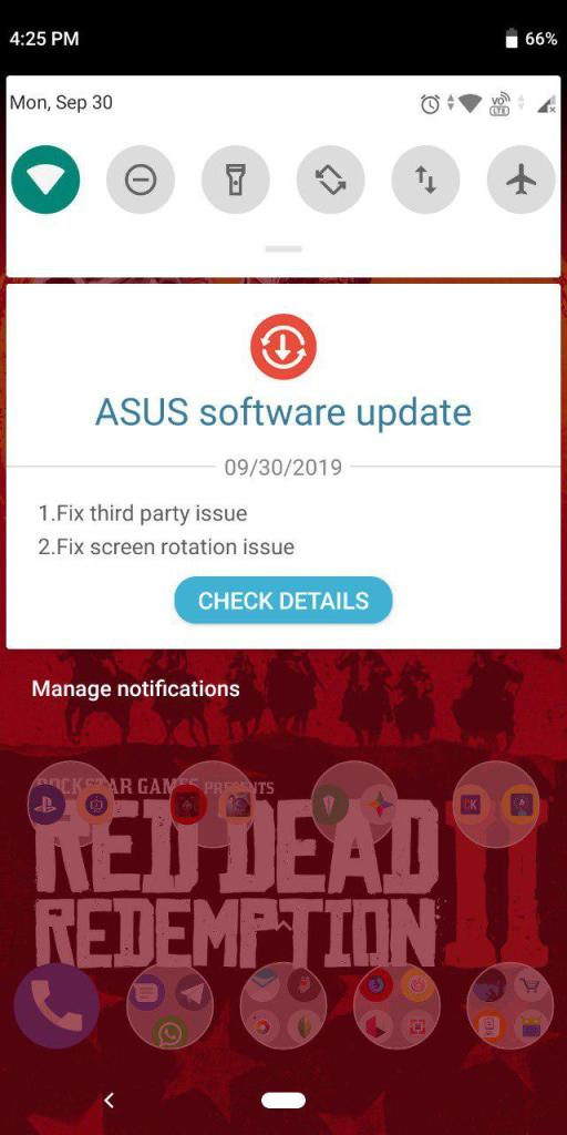 ASUS Zenfone Max Pro M1 WW-16.2017.1908.058 Update
