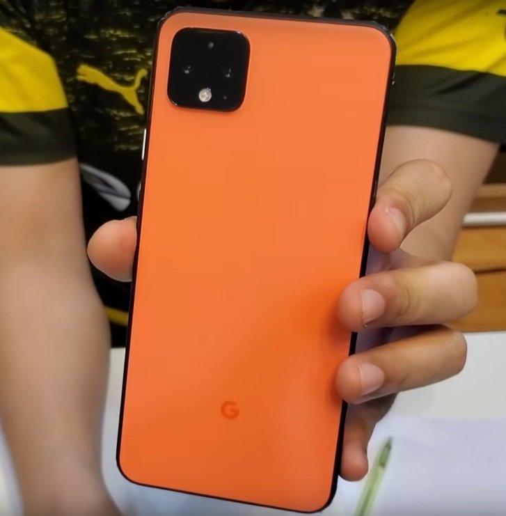 Google Pixel 4 leaked videos - Orange