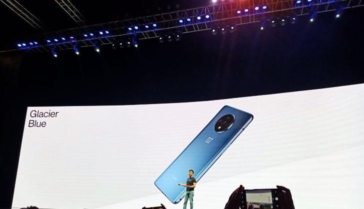 OnePlus 7T launch event Glacier Blue colour