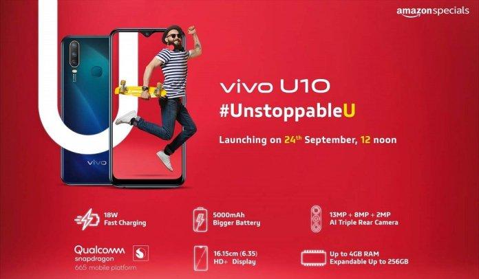 Vivo U10 Specs Vivo U10 specifications including Triple camera details confirmed 2