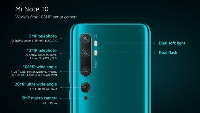 Xiaomi Mi Note 10 specs